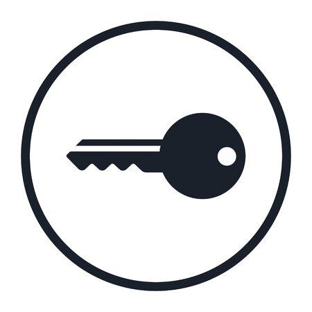 Key symbol isolated on white background. Illustration icon vector