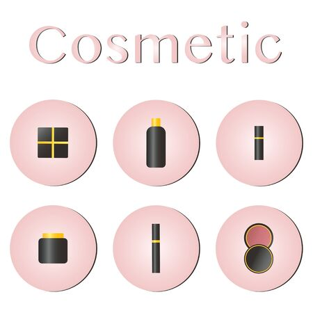 Glamorous make-up icons set. Concept cosmetic, makeup, mascara vector best vector icon 向量圖像