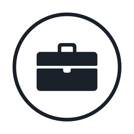 Case icon in solid style design suitable for website, app, and ui design. Suitcase Icon. briefcase Black Vector illustration with editable stroke and pixel perfect icons on white . 向量圖像
