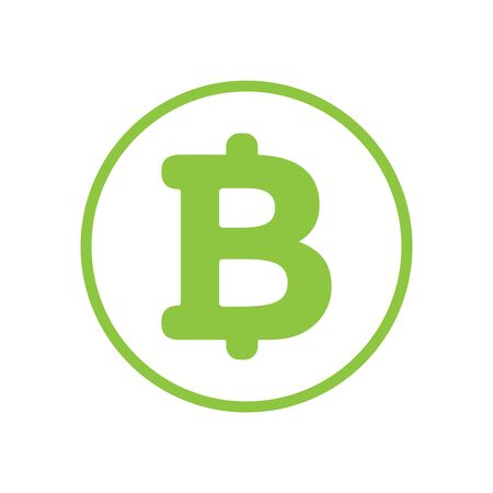 Bitcoin cryptocurrency round symbol vector icon for apps and websites. Illustration 向量圖像