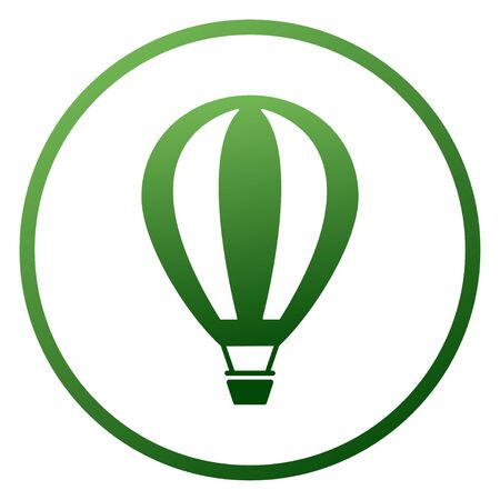Green air balloon. The perfect accent guaranteed to draw attention to your advertisement. Vectores
