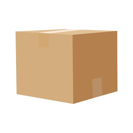 Square box. Cardboard box, container, packaging Vector illustration eps10 Banco de Imagens - 137489850