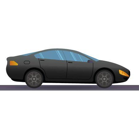 Vector sports car. Super car design concept. Unique modern realistic art. Generic luxury automobile. Car presentation side view. Illustration icon eps10