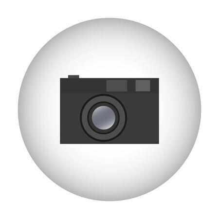Camera icon symbol design. Vector template illustration. Classic Photographic Camera
