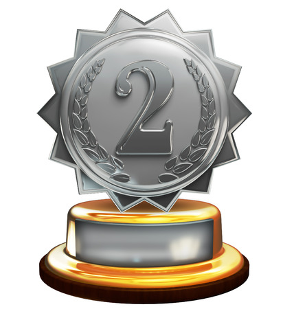 3d de la plata el segundo lugar trofeo