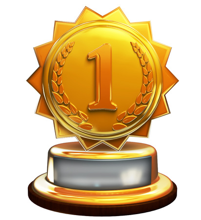 First place gold award, number one