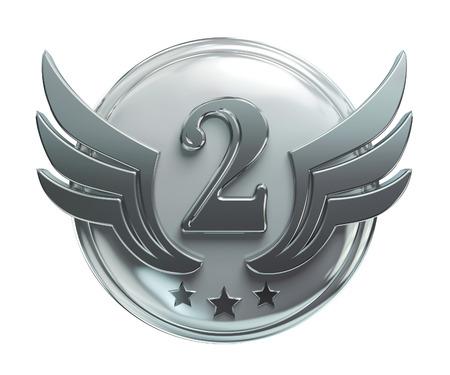 En segundo lugar premio de plata, el número dos