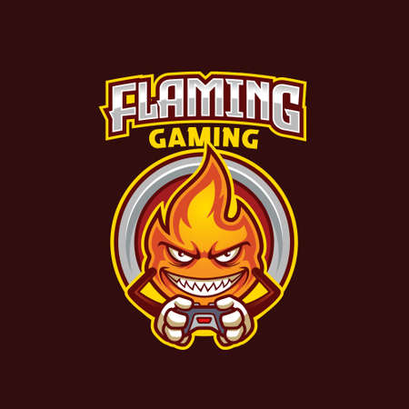 Flame Mascot Gamer Esport  Template