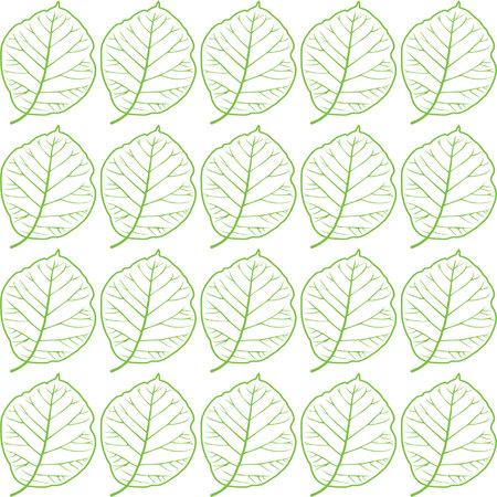 The design of the teak tree leaf pattern. Stock Illustratie