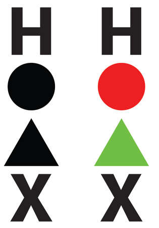 HOAX TYPOGRAPHY with triangle and circle shapes 向量圖像