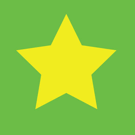 Yellow star with green screen 向量圖像