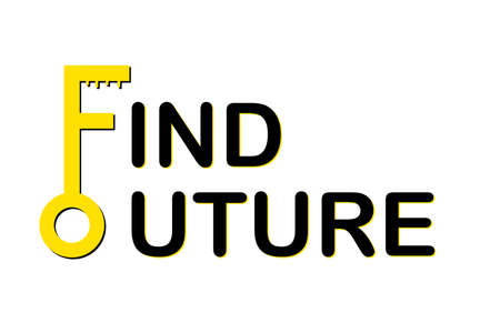 Typography motivation word Find Your Future with Key symbol