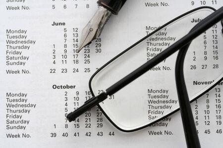 biz calendrier  Banque d'images