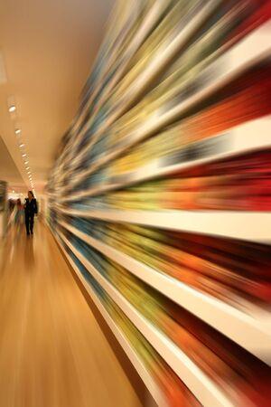Speed shopping Stock Photo