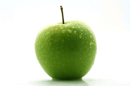 granny smith: Green Granny Smith Apple