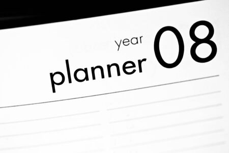 Blank Year planner for 2008 with copy space Stock Photo - 1379691