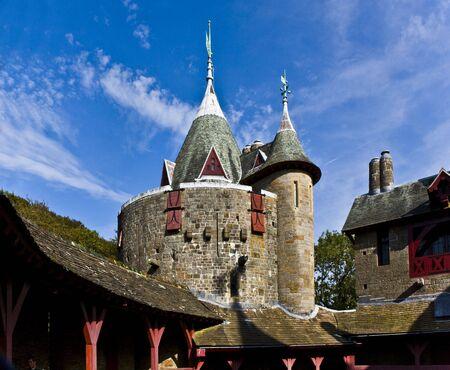 Castell Coch, pr�s de Cardiff au Sud du Pays de Galles Banque d'images