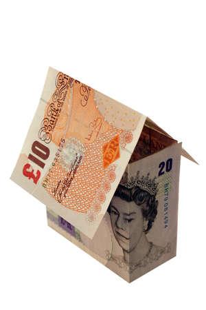 A house made from bank notes Zdjęcie Seryjne