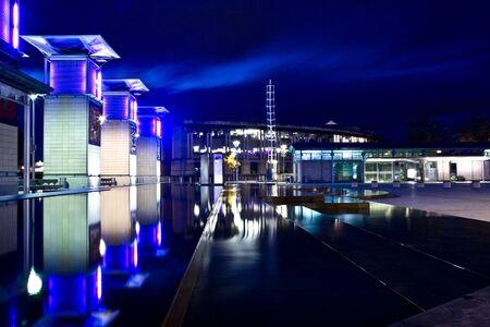 Millennium Square Bristol at night Stock Photo