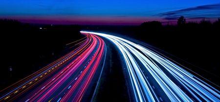 motorway light trails Zdjęcie Seryjne - 2072019