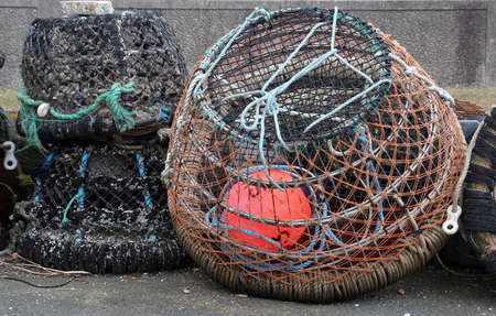 lobster pots: traditional lobster pots Stock Photo