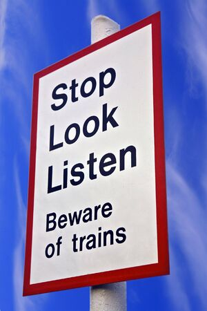 Stop Look Listen Sign photo