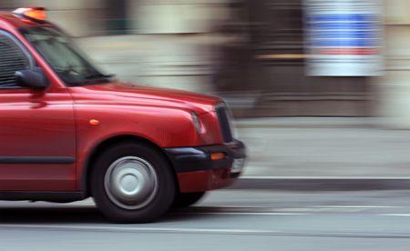 London cab speed blur