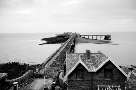 birnbeck: Birnbeck Pier and Island Weston -Super-Mare