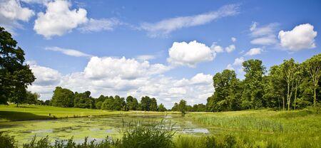 The lake at lydiard park Swindon