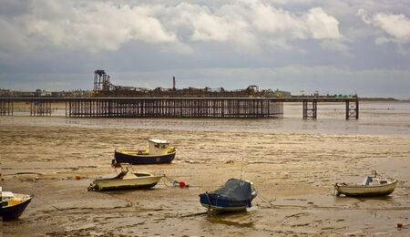 remains: Weston-Super-Mare Grand Pier, Somerset, UK. Taken just affter the fire