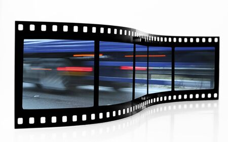 Speed Blur Film Strip Stock Photo