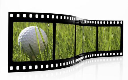 Golf Film Strip Stock Photo - 3611018