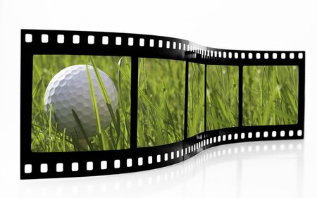 Golf Film Strip Zdjęcie Seryjne - 3611018