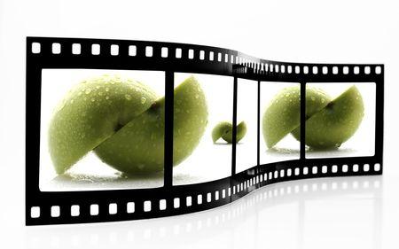 Apple Film Strip Stock Photo