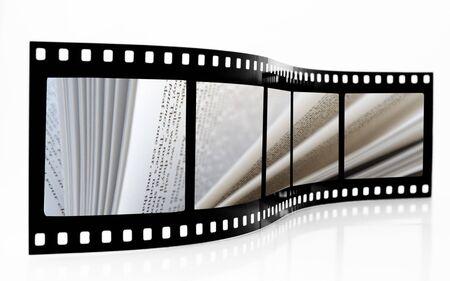 Les pages du livre du film Strip Banque d'images