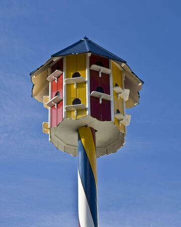 colorful bird house