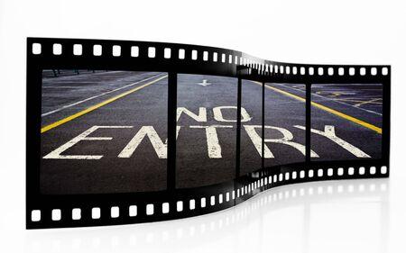 no skid: No Entry Film Strip