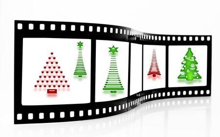 Christmas Tree Film Strip Stock Photo - 3800690