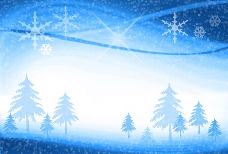 Abstract Christmas Blue Background photo