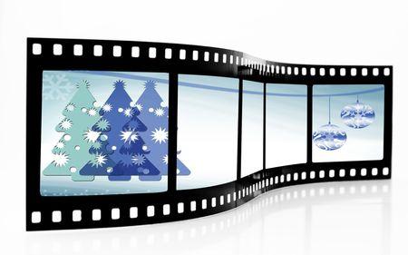 No�l Film Strip Banque d'images