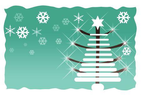 abstract green christmas tree Stock Photo - 3806597