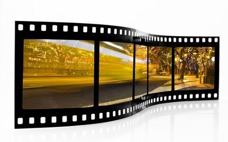 Bus Blur Film Strip