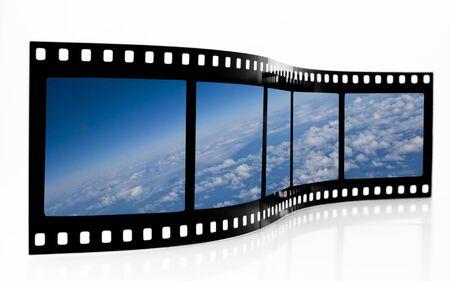 Space View Film Strip Zdjęcie Seryjne
