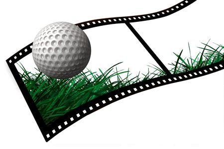 Golf Ball film strip Zdjęcie Seryjne