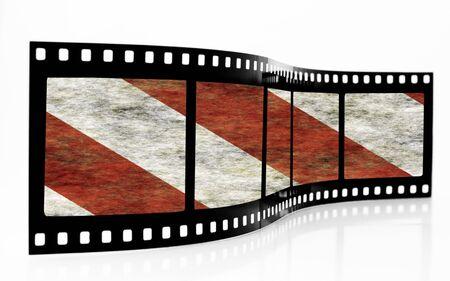 hazard stripes: Hazard Stripes Film Strip
