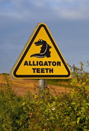 Alligator Teeth Sign photo