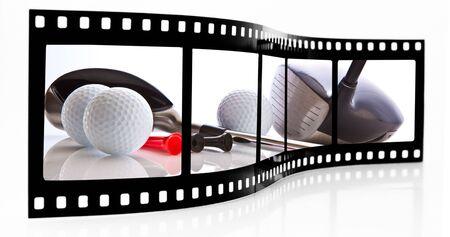 strip club: Golf film strip