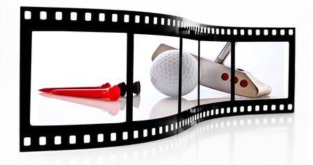 golf glove: Golf film strip