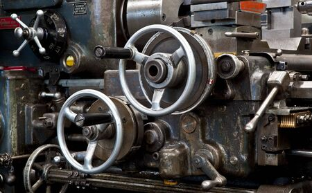 machine part: Old metalwork lathe