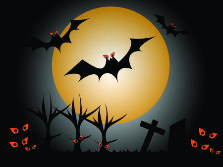 Scary background for halloween Vector